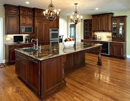 cherry wood kitchen cabinet cherry wood n cabinets with black granite brown varnished wood n island