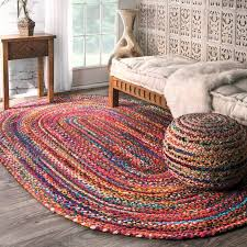 mohawk home rainbow multi stripe rug area rugs bright colored modern tags large size