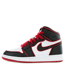 Gs Air Jordan 1 Retro High Og Black Gym Red White