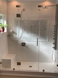 clip set framless glass shower door with two clip set framless glass shower door with two