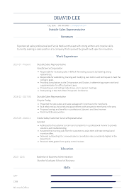 Outside Sales Resume Samples Templates Visualcv