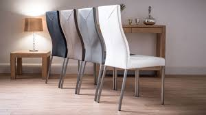 dining room modern grey leather dining chair matched with elegant