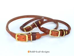 bld s rolled leather dog collar