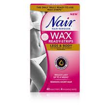 nair wax ready strips legs body