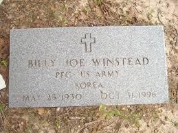 Billy Joe Winstead (1930 - 1996) - Genealogy