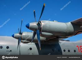 Turboprop engine with propeller. Close-up. – Stock Editorial Photo ...