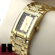elgin gold plated band men s wristwatches 12 hour dial men elgin luxury gold tone date bling luxury rectangle dress wrist watch gw213g