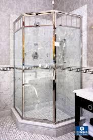 framed semi frameless showers