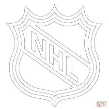 Small Picture NHL Logo coloring page Free Printable Coloring Pages