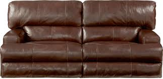catnapper wembley top grain italian leather leather lay flat reclining sofa walnut