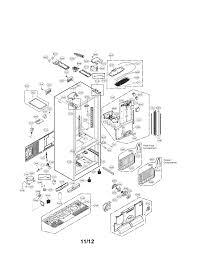 lg refrigerator parts diagram. case parts lg refrigerator diagram e