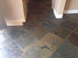 dark slate tile in kitchen