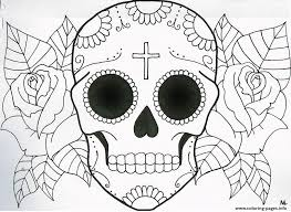Small Picture SUGAR SKULL COLORING Pages Free Download Printable