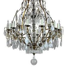 cage style chandeliers images louis xv style six light cage