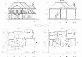 free modern house plans beautiful home architecture two story house plans dwg free cad blocks