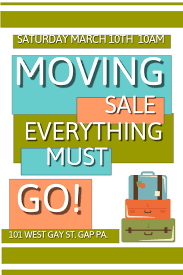 Moving Flyer Template Moving Sale Template Postermywall