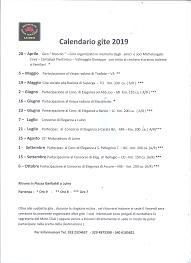 Calendario 2019 Moto Clubnino Manzoni Luino