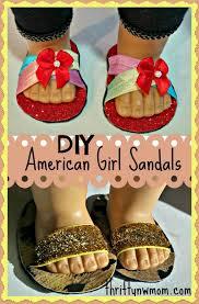 diy american girl sandals shoes