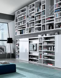 wall hung tv unit and bookcase also