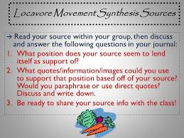 ap final exam response questions ppt video online 24 locavore movement synthesis sources