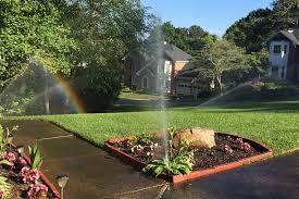 broken sprinklers overwater lawn