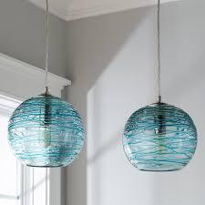 glass globe pendant lighting. Swirling Glass Globe Pendant Light Aqua Lighting