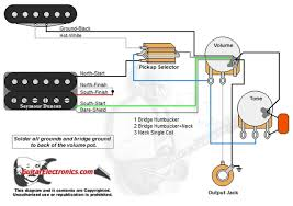 Wiring Diagrams For Split Humbuckers 1 Volume 1 Tone 2 Single Coil 1 Humbucker Wiring