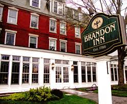 the brandon inn sign and building exterior one of the historic hotels in rutland county