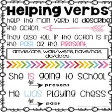 Helping Verbs Scoot Task Cards And Anchor Chart