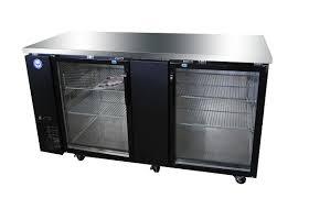 69 glass door back bar cooler