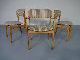 danish oak armchair 2 dining chairs by erik buch for od ma bler in natural