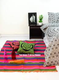 multi colored striped jaipur chindi rugs 3 6 x6 5