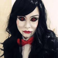 makeup tutorial body painted clothes you if billy the saw doll had a friend would she look like this