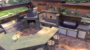 Outdoor Kitchen And Grills Kitchens With Brick Pizza Ovens Outdoor Kitchen With Argentinian