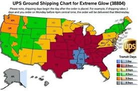 Graytex Ups Ground Zone Chart Ups Zone Chart By Zip