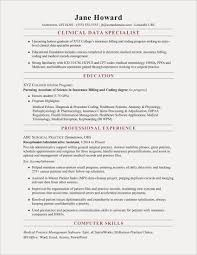 Data Entry Specialist Resume Best Resume Templates Clinical Medical