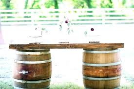 whiskey barrel table for wooden furniture chair small barrels empty uk sal wood barrel furniture
