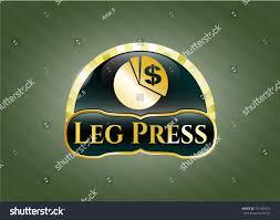 Leg Press Chart Golden Emblem Badge Chart Icon Leg Stock Vector Royalty
