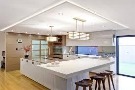 white kitchen pendant lighting. Minimalist Kitchen Design With Modern Pendant Lighting Using Rectangular Shaped Drum Shade And Chic White Cabinet