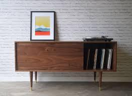 mid century media cabinet. Created By STORnewyork Scandinavian Teak Eames Walnut Mid Century Media Cabinet Wood Bookcase Bookshelf Knoll Console Turntable Inside