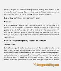techniques of persuasive essay writing 3 societies