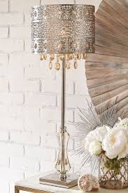 lamp crystal drop chandelier table lamp ok t inch crystal