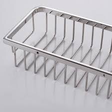 kes bathroom shower caddy 10 rustproof rectangular bath storage basket sus 304 stainless steel contemporary style wall mount