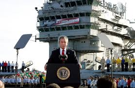 years later mission accomplished msnbc <p><span>president bush declares the end of major combat in