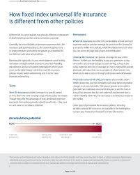 Understanding Fixed Index Universal Life Insurance Pdf