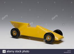 Pinewood Derby Nascar Designs Yellow Pinewood Derby Race Car Stock Photo 52103973 Alamy