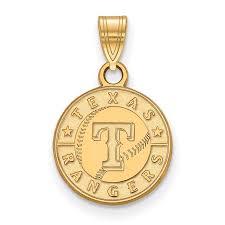 mlb gold texas rangers mlb pendant stock 4y001ran