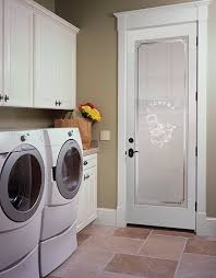 laundry door etched glass