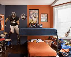 ... Mind Blowing Images Of Sport Theme Kid Bedroom Design And Decoration  Ideas : Divine Image Of ...