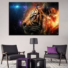 Office wall prints Vinyl Printing Canvas Pictures Home Decor Hd Prints Piece Fire And Ice Tiger Paintings Office Wall Art Abstract Animal Posters And Prints Aliexpresscom Canvas Pictures Home Decor Hd Prints Piece Fire And Ice Tiger